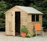 Forest Economy 8x6 Pressure Treated Overlap Apex Shed