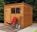 Forest Economy 8x6 Overlap Pent Shed