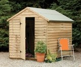 Forest Economy 8x6 Overlap Apex Security Shed