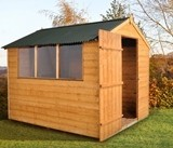 Forest Economy 8x6 Shiplap Shed with Onduline Roof