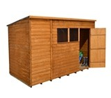 Forest Economy 10x6 Overlap Pent Shed