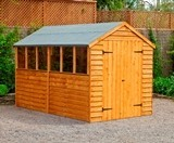 Forest Economy 10x6 Overlap Apex Shed Double Door