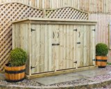 Deluxe Treated Redwood Triple Garden Store
