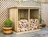 Superior Treated Redwood Double Log Store