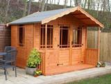 Blithbury Summerhouse 5'x14' (1.52m x 4.26m) Ready Built Free Delivery