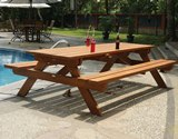 Large Picnic Table and Bench Set