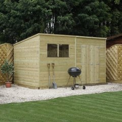 Mercia Pressure Treated Pent Sheds