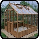 Raven Wooden Greenhouse