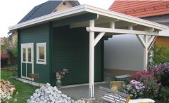 Bertsch Flat Roof Log Cabins