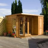 Contemporary Summerhouse with Side Shed 10'x8'