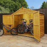Overlap Bike Store Shed 3'x7'
