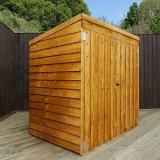 Overlap Pent Mower Store Shed 5'x3'