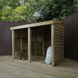 Mercia Double Wooden Log Store 6'x3'