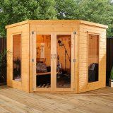 Wooden Corner Summerhouse 8'x8'