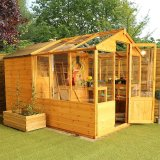 Combi Greenhouse and Wooden Storage Shed 10 x 6