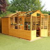 Combi Greenhouse and Wooden Storage Shed 12 x 6