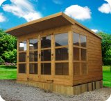 Contemporary Valencia Pent Summerhouse 5'x10'