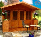 The Chalet Summerhouse 10'X10' plus 4' Verandah