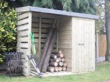 Log Store 6'x2' with Storage