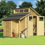 Skylight Shed With Store - Natural 7'x10'