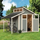 Skylight Shed With Lean To Light Grey 7'x10'