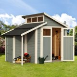 Skylight Shed With Store Light Grey 7'x10'