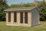 Chiltern 4.0m x 3.0m Log Cabin Double Glazed 24kg Felt, Plus Underlay
