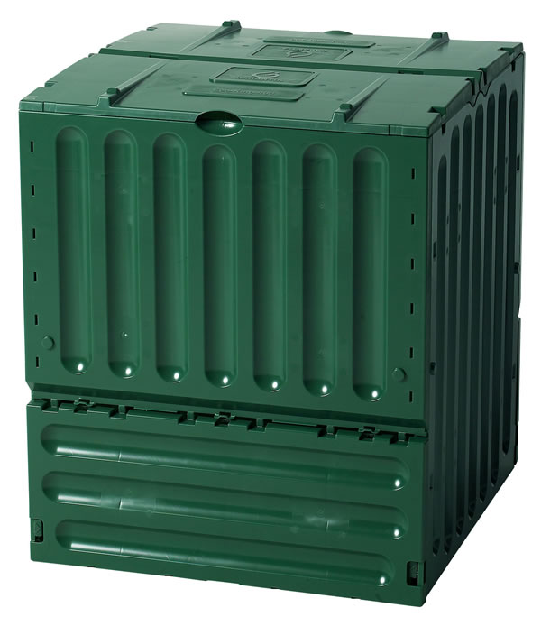 green eco-king composter in green plastic