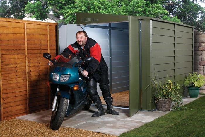 Trimetal Motorcycle Security Metal Garage MCG950 9'2x5'7