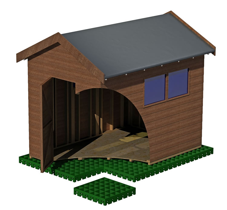 EcoBase shed base support system