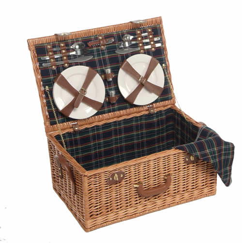 Four person willow picnic hamper
