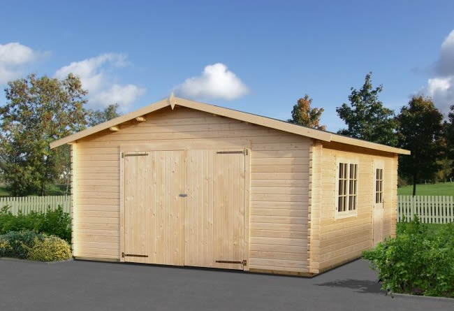 Log Cabin Garage 2 44mm 4.7 x 5.7m