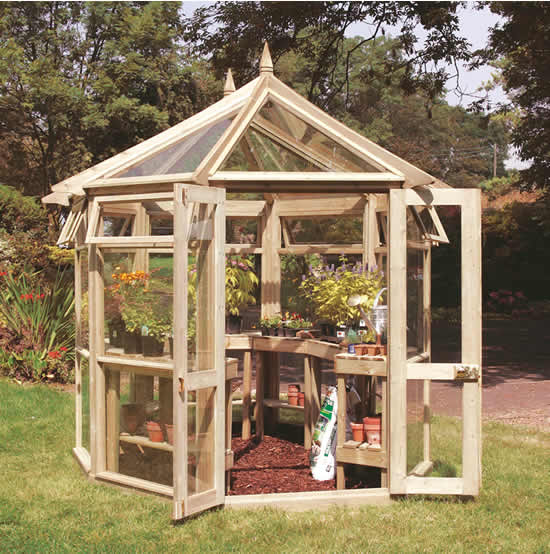 J-Class Large Edwardian Greenhouse 12'3 x 9'2