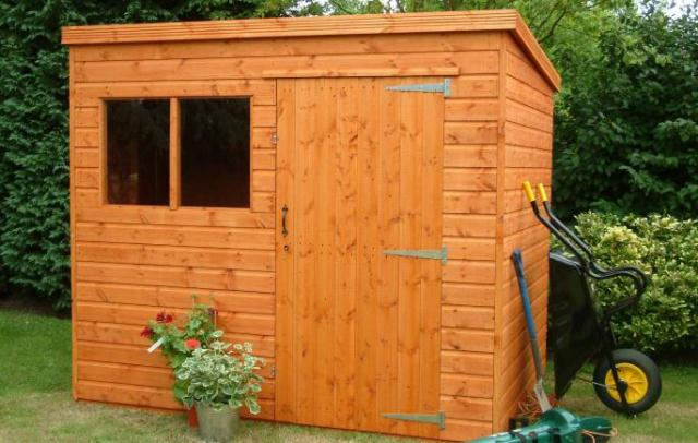 Supreme Pent Shed 8x6 (2.43mx1.82m) Ready Built Free Delivery