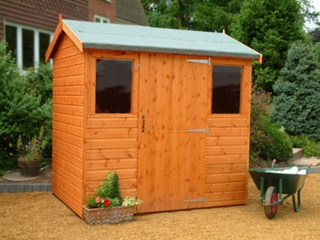 Extra High Supreme Apex Shed 14x8 (4.26mx2.43m) Ready Built Free Delivery