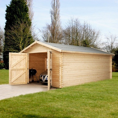 4.2m x 5.7m Garage - 44mm Single Glazed