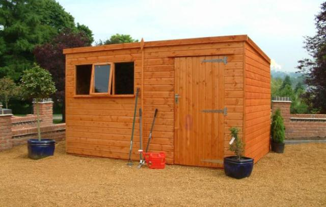Heavy Duty Pent Shed 8'x6'