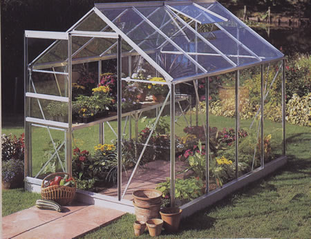 Hall Popular Greenhouse in Silver Aluminum