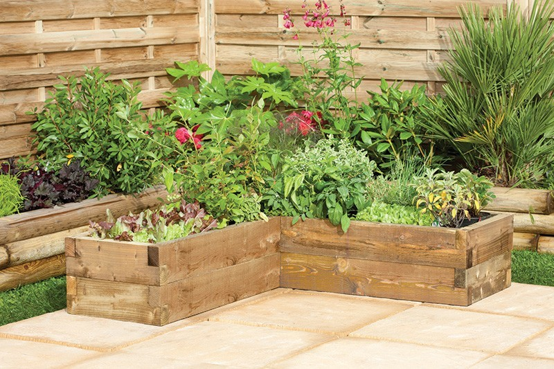 Forest Caledonian Corner Raised Bed
