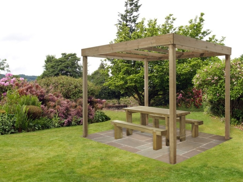 Dining Pergola Without Panels