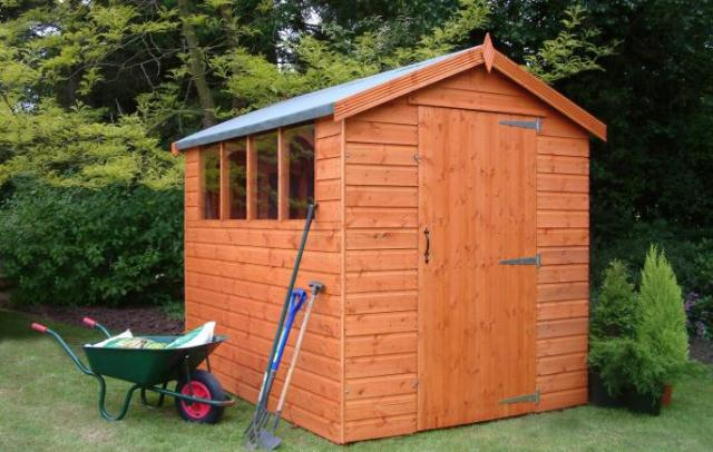 Supreme Apex Shed 8x6 (2.43mx1.82m) Ready Built Free Delivery