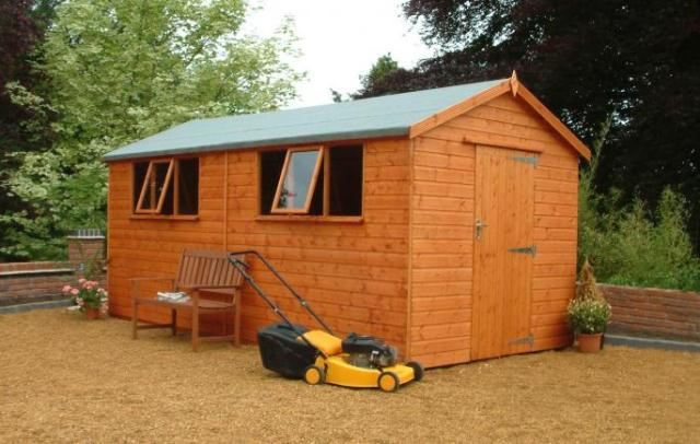Heavy Duty Apex shed 14x8 (4.26m x 2.43m)