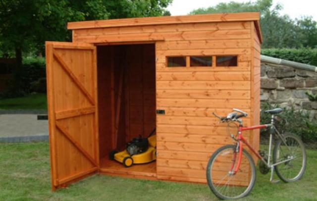 Security Pent Shed 8\' x 8\' (2.43m x 2.43m)