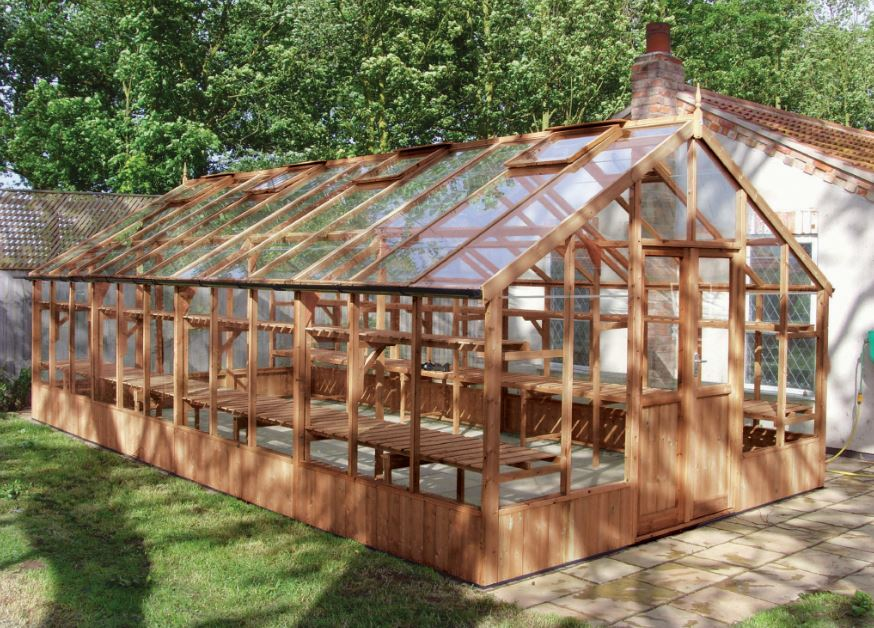 Falcon Timber Greenhouse 13'1 x 31'6