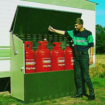 Senturion 447 Gas Bottle Metal Storage Unit