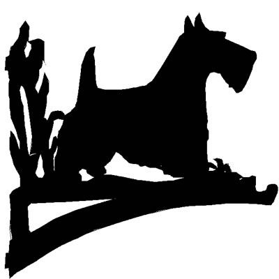 Scottie Dog Hanging Basket Bracket