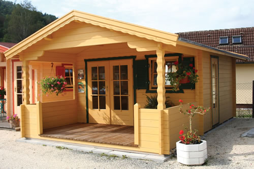 Kansas 2 log cabin with double glazing