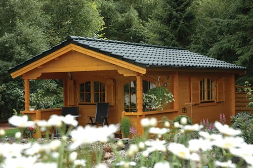 45mm double glazed log cabin