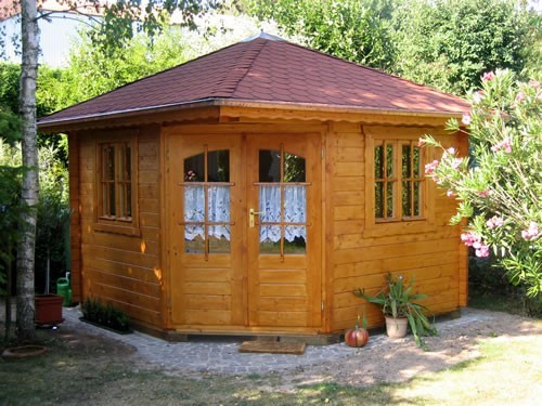45mm corner log cabin