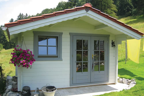 Double glazed and 45mm thick wall logs